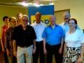 Michael Theurer (3. von rechts) mit Europakandidat Martin Müller (4. von rechts) und Ludwigsburger FDP-Vertretern