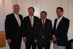 Harald Leibrecht MdB, OB Werner Spec, Dr. Horst Mehrländer, Alexander Schopf (von links)