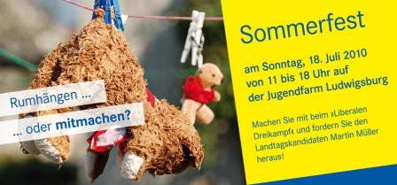 ludwigsburg liberal gestalten - liberales sommerfest, Einladung