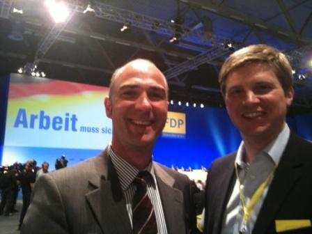 Martin Müller zusammen mit Florian Toncar MdB