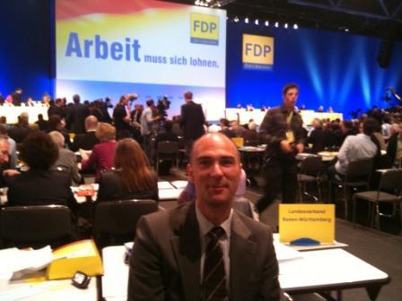 Martin Müller auf dem 61. Bundesparteitag der FDP