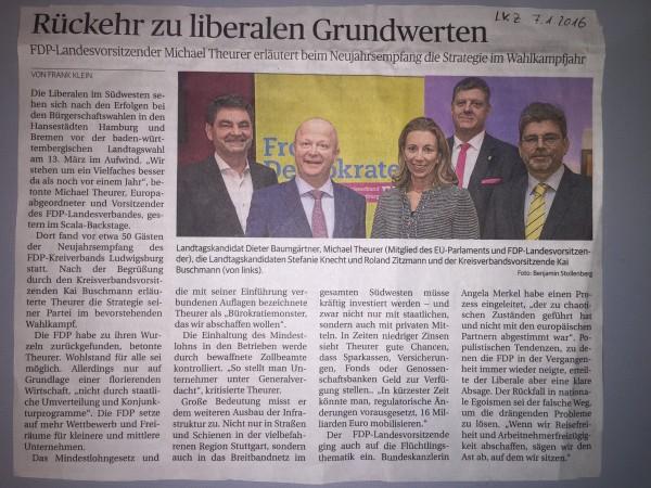Ludwigsburger Kreiszeitung vom 07.01.2016