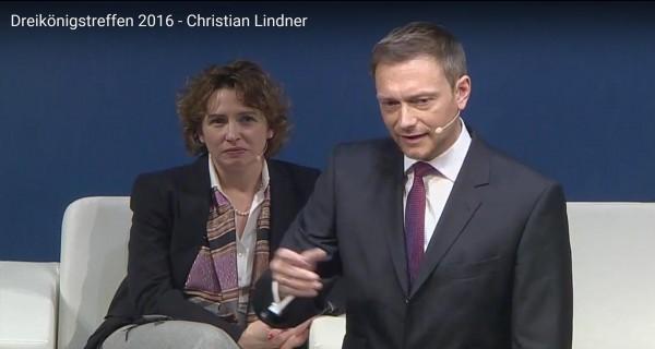 Christian Lindner beim Dreikönigstreffen 2016 der FDP in Stuttgart