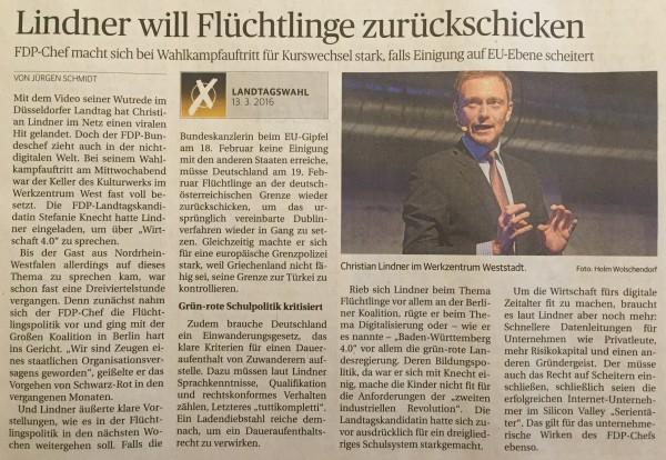 LKZ zum Besuch von Christian Lindner in Ludwigsburg