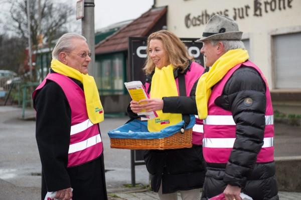 v.l.: Hans-Peter Stihl, Stefanie Knecht und Dr. Rüdiger Stihl