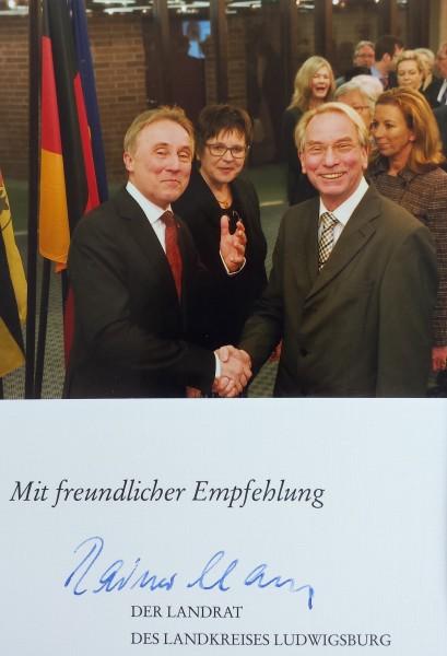 Landrat Dr. Haas mit FDP Stadt- und Kreisrat Johann Heer