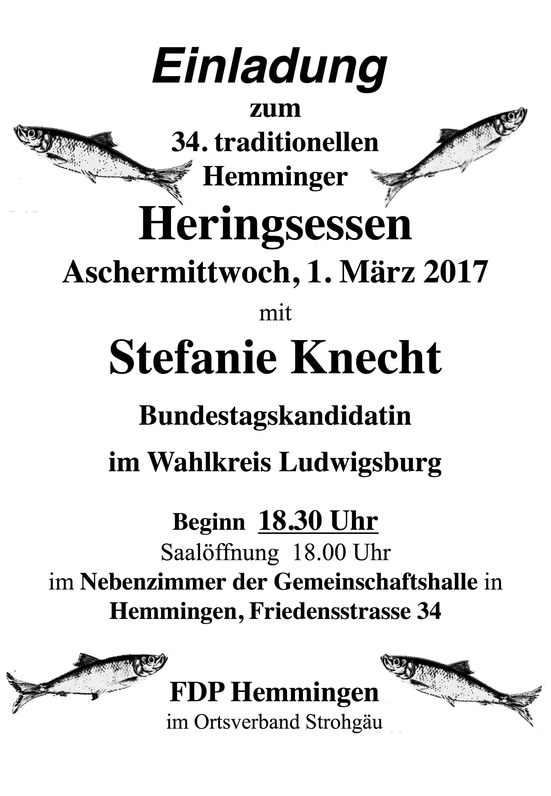 Einladung Heringsessen 2017