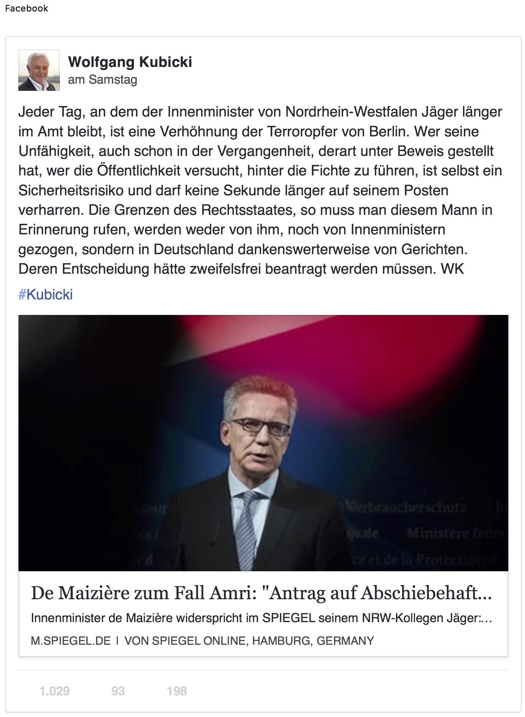 Wolfgang Kubicki via Facebook