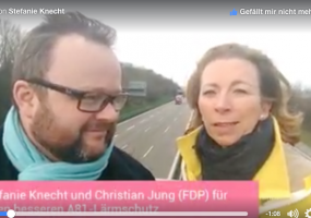 Stefanie Knecht und Dr. Christian Jung zur A81
