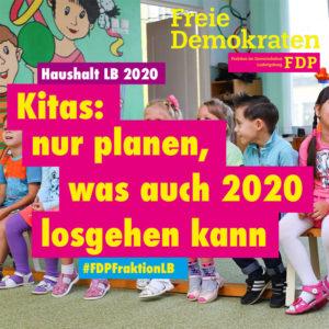 Ratsfraktion: Kitas nur planen, was 2020 auch losgehen kann - Garantie für 2021