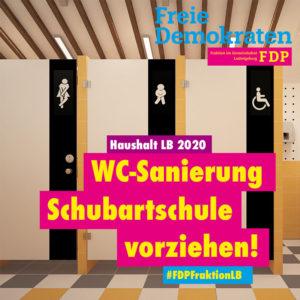 Ratsfraktion: WC-Sanierung Schubartschule vorziehen