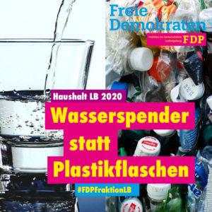 Ratsfraktion: Wasserspender installieren und Plastikflaschen vermeiden