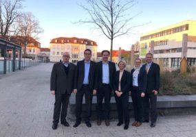 Sebastian Haag und Wolfgang Vogt mit Delegation bei OB Dr. Knecht