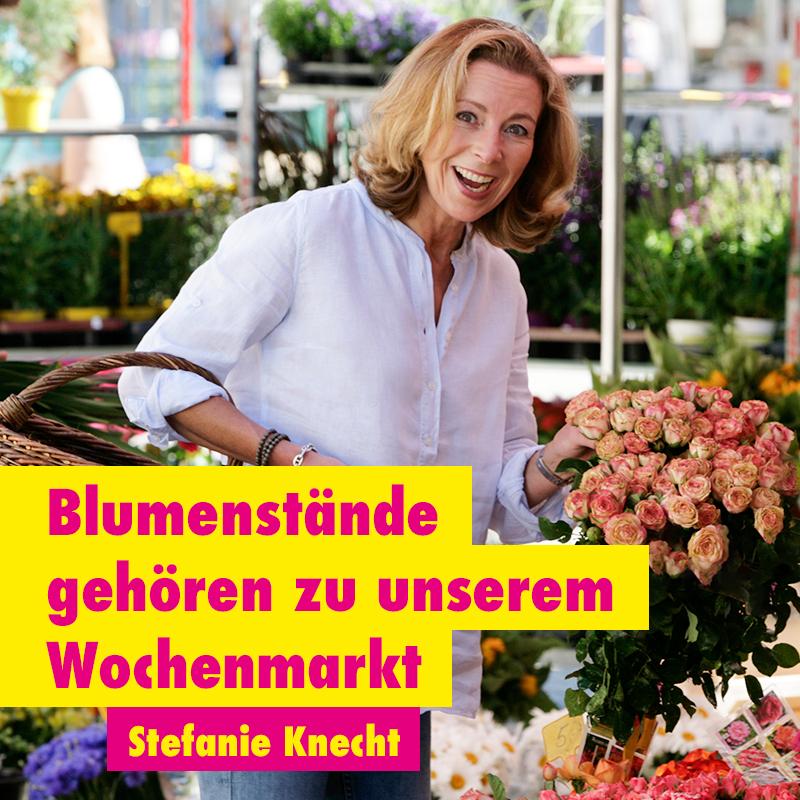 Blumenstände gehören zu unserem Wochenmarkt